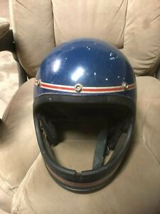 Vintage Polaris Snowmobile Helmet (See Photos And Description)