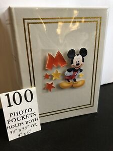 100 Picture book Bound Photo Album ( M IS FOR MICKEY MOUSE ) NEW!