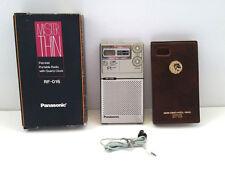 PANASONIC MISTER THIN FM/AM PORTABLE RADIO QUARTZ CLOCK ALARM MGM RF-016 1978