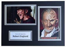 Robert Englund Signed Autograph A4 photo mount display Nightmare on Elm Street