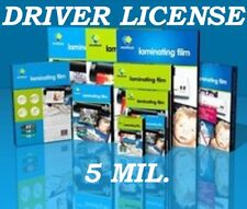 25 Driver License 5 Mil Laminating Pouches Laminator Sheet 2-3/8 x 3-5/8 Quality