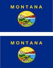 2 x Autocollant sticker voiture moto vinyl drapeau USA americain montana