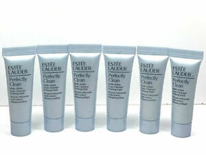 6x Estee Lauder PERFECTLY CLEAN Multi-Action Foam Cleanser Mask 0.24oz / 7ml ea.