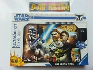 PREOWNED RAVENSBURGER...STAR WARS THE CLONE WARS 100 Piece AGE 4+ Jigsaw Puzzle