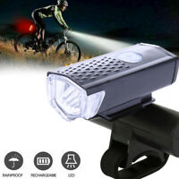 Rechargeable Bike Front Headlight Light Bicycle Cycling CREE LED Lamp Waterproof