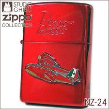 Zippo Porco Rosso SAVOIA S-21 Metal Red Studio Ghibli Hayao Miyazaki Japan F/S