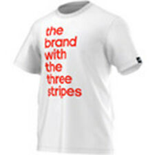 SIZE MEDIUM - ADIDAS THE BRANDS WITH THE 3 STRIPES ROUND NECK T SHIRT - WHITE