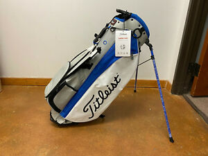 Titleist Players 4 Plus Stand Bag 4-Way Top (Grey/White/Royal) **MINT**