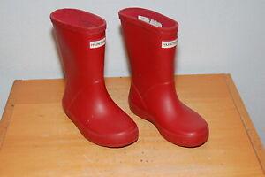 Girls Rain Boots Hunter Original Boots Red Matte Big Kids Size 8 Rubber Boot