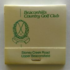 Beaconhills Country Golf Club Stony Creek Rd Upper Beaconsfield Matchbook (MK25)