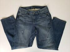 Lane Bryant Women's Jeans Size 14 Straight Leg Denim Distressed Blue Jean Pants