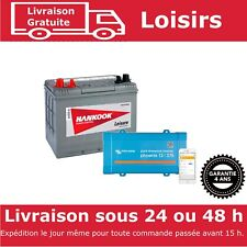 Hankook 80Ah Batterie de Loisirs et Victron Convertisseur Phoenix 12V 375VA