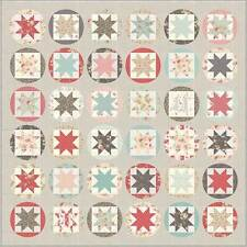 "Fabric Quilt KIT ~ POETRY QUILT KIT ~ by 3 Sister's Hello Sun Quilt 76"" x 76"""