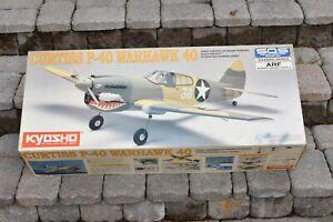 KYOSHO CURTISS P-40 WARHAWK 40 R/C PLANE 1/8 SCALE NEW