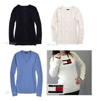 New Tommy Hilfiger Womens Sweater Crew V Neck NWT