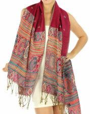 Fashion Rainbow Paisley Pashmina Scarf Shawl Wrap 13 SOLID COLORS