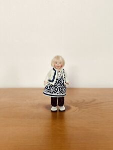 OOAK 12th Dollhouse Polymer clay Miniature Doll Character Girl, by_lana.
