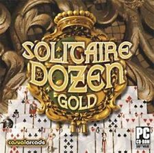SOLITAIRE DOZEN GOLD  Klondike, Spider & 10 More  Brand New Sealed