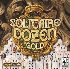 SOLITAIRE DOZEN GOLD  Klondike, Spider & 10 More  Brand New Sealed