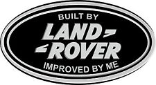 LAND ROVER Oval Sticker Decal Improved By Me Defender Discovery 90 110 TD5