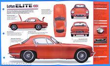 Lotus Elite UK 1957-1963 Spec Sheet Brochure Poster IMP Hot Cars Group 1 #4
