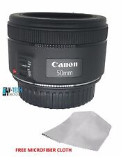 Canon EF 50 mm F 1.8 STM Prime Lens for Canon EOS SLR Auto Focus Black NEW
