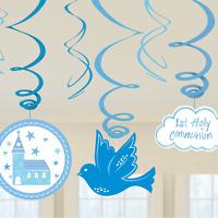 1º Comunión Iglesia Azul / Niño gama fiesta -tableware & Decoración {Amscan}