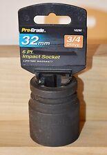 "32 mm Metric 3/4"" Drive 6 Point Standard Impact Socket New & Free Shipping"