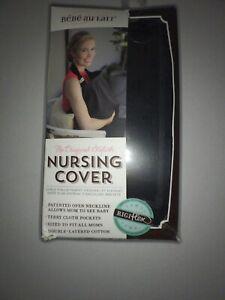 Bebe au Lait Nursing Cover Eyelet Cotton Black