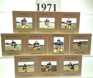 1971 NFL Made TV card Set 11 Pittsburgh Steelers ROOKIES BLOUNT GREENWOOD FUQUA