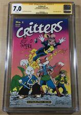 Critters #1 CGC SS 7.0! Signed & Sketched By Stan Sakai! Usagi Yojimbo! Rare!