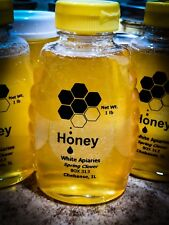 1 LB Raw Natural Organic  Honey Sugar Island Light Clover Unheated, Unfiltered
