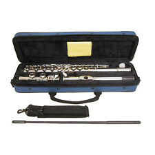 Guarantee Quality Band Approved Nickel Plated Flute w Carrying Case Sky Blue
