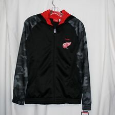 Reebok Detroit Red Wings Zip Up Youth Hoodie Large Face Off Apparel