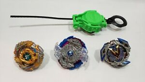 Beyblade BURST Turbo Lot of 3 Takara TOMY w/Launcher Combo EUC