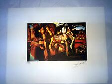 Salvador Dali Litografia 50 x 65 Bfk Rives Timbro a secco Firmata a Matita D248