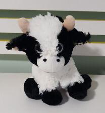 ELKA BLACK AND WHITE COW PLUSH TOY 22CM SILVER EYES! STUFFED ANIMAL!