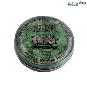 Reuzel Green Pomade Grease Medium Hold 4oz (113g)