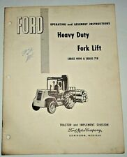 Ford 4000 718 Heavy Duty Fork Lift Operators Operating &Assembly Manual Original