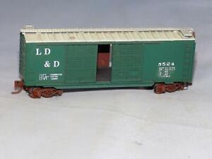 N Scale Kadee LD & D 5524 Lightly Weathered 50' Box Car W/ Double Sliding Doors