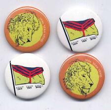 YEAH YEAH YEAHS Set of four promo button badges/pins Gold Lion Show Your Bones