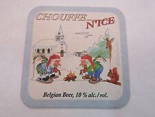 BEER Coaster <> Brasserie d'Achouffe CHOUFFE N'Ice Belgian Winter Bier ~ BELGIUM