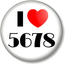I Love / Heart 5678 25mm Pin Button Badge Musical Theatre Dance Count in Steps