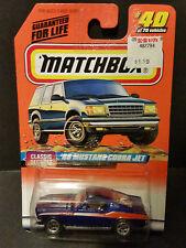 1998 Matchbox Classic Decades Series 40/75 '68 Mustang Cobra Jet