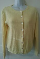 No Boundaries Sweater Women Sleeve Buttton Yellow L Juniors Ramie Cardigan
