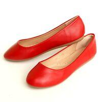 Womens Shoes Flat Ballet Ballerina Slip On Slipper Round Toe Casual Ladies