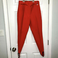 Vintage Obermeyer Womens Size 12R Red Stirrup Pants Ski Bibs