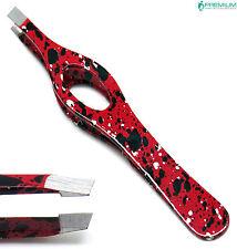 Beauty Tool Makeup Eyebrow Red Tweezer Hair Remover Slanted Tip Instruments