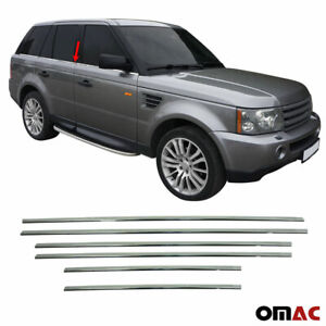 Fits Range Rover Sport 2006-2013 Chrome Window Frame Trim Cover Stainless 6 Pcs