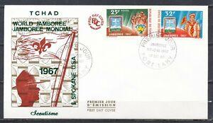 SCOUTING -WORLD JAMBOREE 1967, SPOKANE, USA - FDC TCHAD, FORT-LAMY 17.OCT.67 203